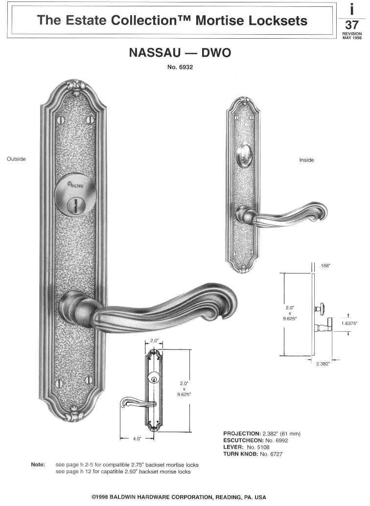 Baldwin Lock Trim Design